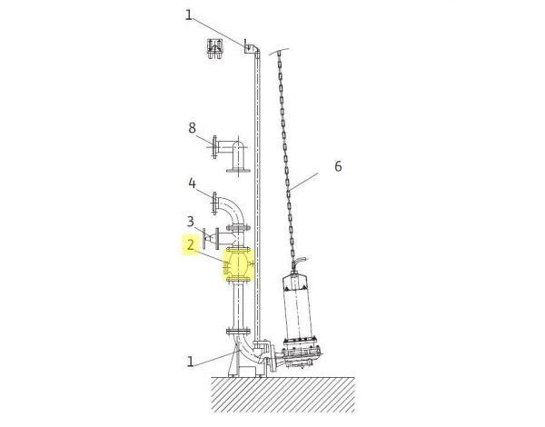 WILO visszafolyásgátló szennyvízre, DN50 PN10 Z (GG25)-0