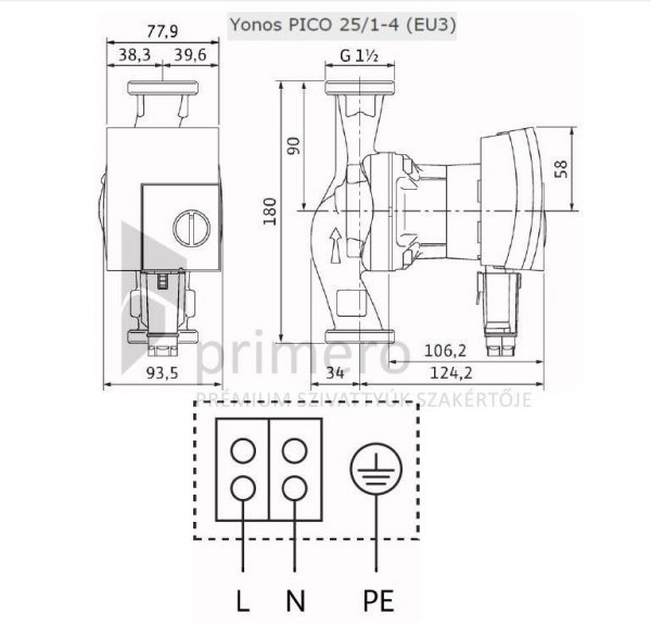 WILO YONOS PICO 25/1-4-(EU3)-66652