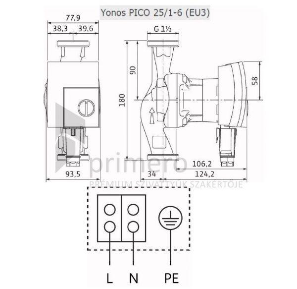WILO YONOS PICO 25/1-6-(EU3)-66655