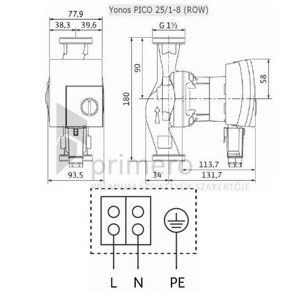 WILO YONOS PICO 25/1-8-(ROW)-66649
